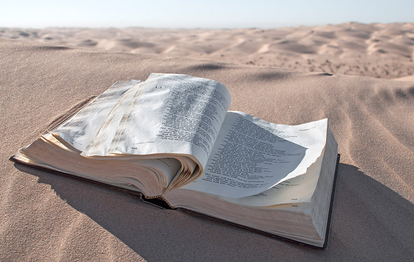 Bibel in der Wüste