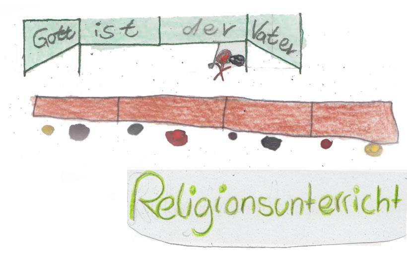 Zeichnung Konfis Religionsunterricht