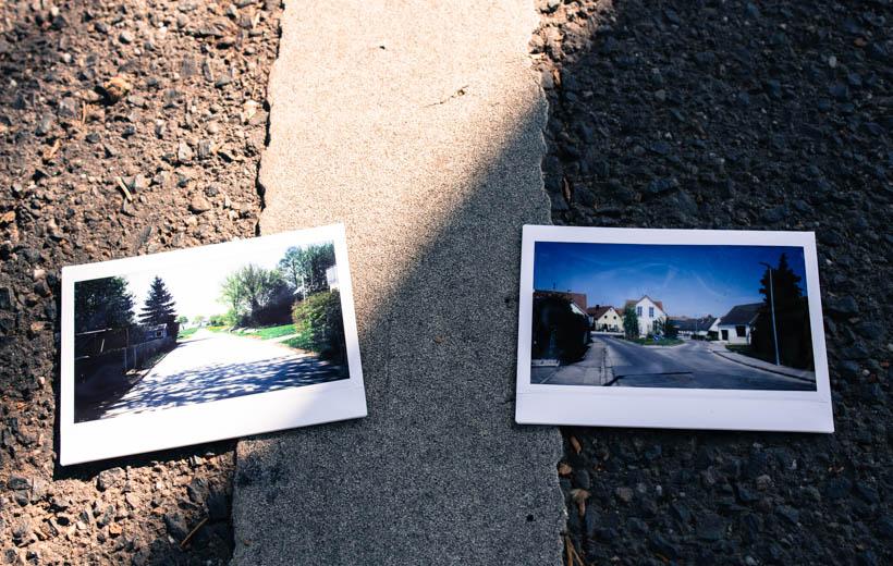 Bild zeigt Polaroids mit Straßenbildern