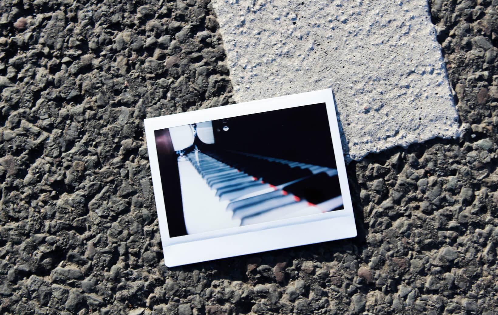 Polaroid: Klaviertasten
